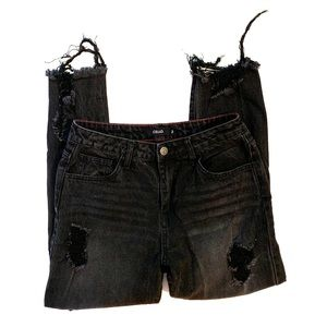 Cello black distressed boyfriend jeans size 3